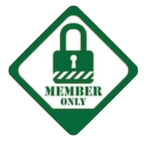 Members only icon as a geen lock